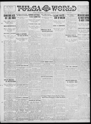 Primary view of object titled 'Tulsa Daily World (Tulsa, Okla.), Vol. 12, No. 177, Ed. 1 Saturday, March 17, 1917'.