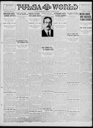 Primary view of object titled 'Tulsa Daily World (Tulsa, Okla.), Vol. 12, No. 186, Ed. 1 Monday, March 26, 1917'.