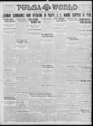 Primary view of object titled 'Tulsa Daily World (Tulsa, Okla.), Vol. 12, No. 203, Ed. 1 Thursday, April 12, 1917'.