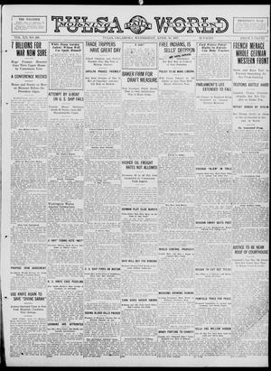 Primary view of object titled 'Tulsa Daily World (Tulsa, Okla.), Vol. 12, No. 208, Ed. 1 Wednesday, April 18, 1917'.