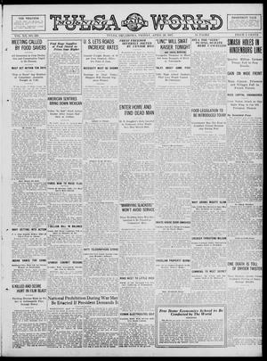 Primary view of object titled 'Tulsa Daily World (Tulsa, Okla.), Vol. 12, No. 210, Ed. 1 Friday, April 20, 1917'.