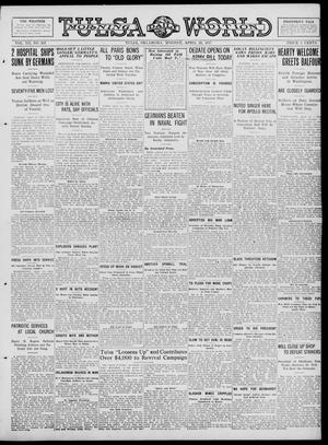 Primary view of object titled 'Tulsa Daily World (Tulsa, Okla.), Vol. 12, No. 213, Ed. 1 Monday, April 23, 1917'.