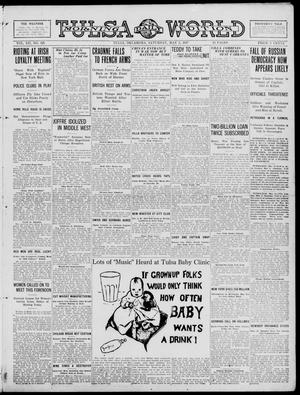 Primary view of object titled 'Tulsa Daily World (Tulsa, Okla.), Vol. 12, No. 225, Ed. 1 Saturday, May 5, 1917'.