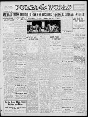 Primary view of object titled 'Tulsa Daily World (Tulsa, Okla.), Vol. 12, No. 239, Ed. 1 Saturday, May 19, 1917'.