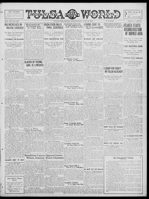 Primary view of object titled 'Tulsa Daily World (Tulsa, Okla.), Vol. 12, No. 243, Ed. 1 Wednesday, May 23, 1917'.