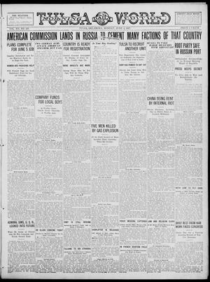 Primary view of object titled 'Tulsa Daily World (Tulsa, Okla.), Vol. 12, No. 255, Ed. 1 Monday, June 4, 1917'.