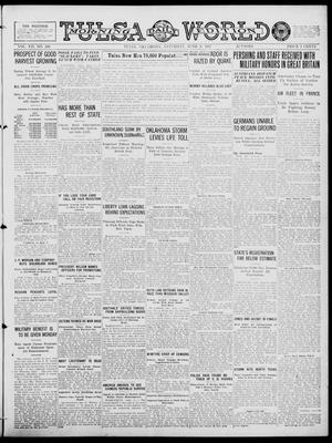 Primary view of object titled 'Tulsa Daily World (Tulsa, Okla.), Vol. 12, No. 260, Ed. 1 Saturday, June 9, 1917'.