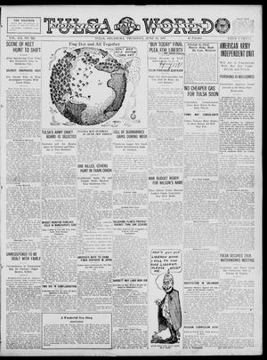 Primary view of object titled 'Tulsa Daily World (Tulsa, Okla.), Vol. 12, No. 265, Ed. 1 Thursday, June 14, 1917'.