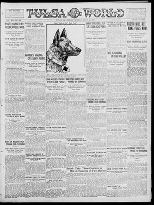 Primary view of object titled 'Tulsa Daily World (Tulsa, Okla.), Vol. 12, No. 268, Ed. 1 Sunday, June 17, 1917'.