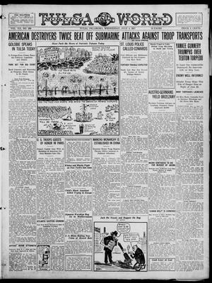 Primary view of object titled 'Tulsa Daily World (Tulsa, Okla.), Vol. 12, No. 286, Ed. 1 Wednesday, July 4, 1917'.