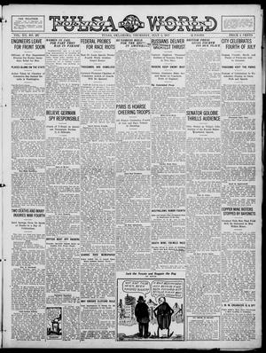 Primary view of object titled 'Tulsa Daily World (Tulsa, Okla.), Vol. 12, No. 287, Ed. 1 Thursday, July 5, 1917'.