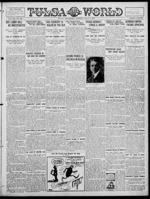 Primary view of object titled 'Tulsa Daily World (Tulsa, Okla.), Vol. 12, No. 292, Ed. 1 Monday, July 9, 1917'.