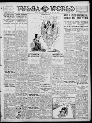 Primary view of object titled 'Tulsa Daily World (Tulsa, Okla.), Vol. 12, No. 302, Ed. 1 Thursday, July 19, 1917'.