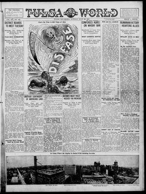 Primary view of object titled 'Tulsa Daily World (Tulsa, Okla.), Vol. 12, No. 312, Ed. 1 Sunday, July 29, 1917'.