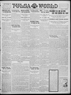 Primary view of object titled 'Tulsa Daily World (Tulsa, Okla.), Vol. 12, No. 314, Ed. 1 Tuesday, July 31, 1917'.