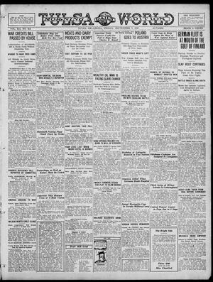 Primary view of object titled 'Tulsa Daily World (Tulsa, Okla.), Vol. 12, No. 354, Ed. 1 Friday, September 7, 1917'.