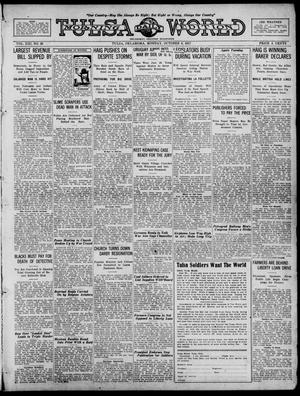 Primary view of object titled 'Tulsa Daily World (Tulsa, Okla.), Vol. 13, No. 20, Ed. 1 Monday, October 8, 1917'.