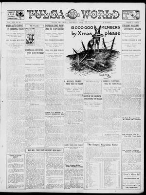 Primary view of object titled 'Tulsa Daily World (Tulsa, Okla.), Vol. 13, No. 96, Ed. 1 Saturday, December 22, 1917'.