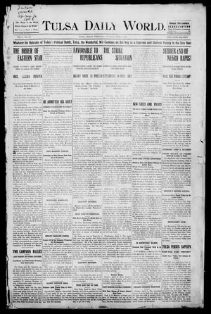Primary view of object titled 'Tulsa Morning News and Tulsa Daily World. (Tulsa, Indian Terr.), Vol. 1, No. 162, Ed. 1 Tuesday, April 3, 1906'.