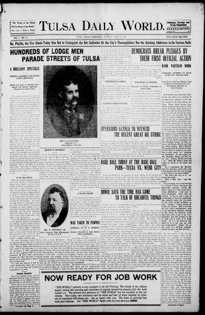 Primary view of object titled 'Tulsa Morning News and Tulsa Daily World. (Tulsa, Indian Terr.), Vol. 1, No. 168, Ed. 1 Tuesday, April 10, 1906'.