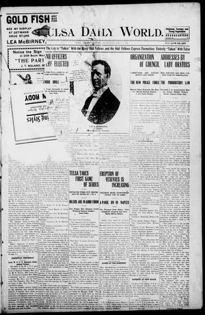 Primary view of object titled 'Tulsa Morning News and Tulsa Daily World. (Tulsa, Indian Terr.), Vol. 1, No. 169, Ed. 1 Wednesday, April 11, 1906'.