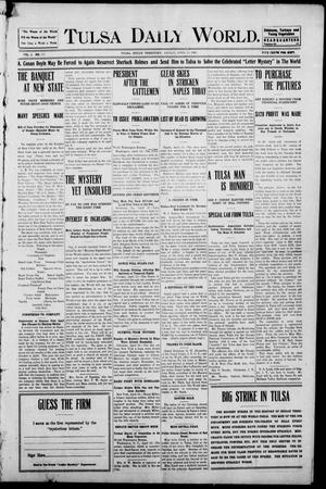 Primary view of object titled 'Tulsa Morning News and Tulsa Daily World. (Tulsa, Indian Terr.), Vol. 1, No. 171, Ed. 1 Friday, April 13, 1906'.