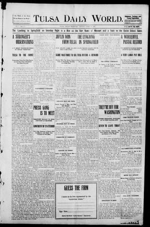 Primary view of object titled 'Tulsa Morning News and Tulsa Daily World. (Tulsa, Indian Terr.), Vol. 1, No. 173, Ed. 1 Monday, April 16, 1906'.