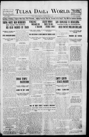 Primary view of object titled 'Tulsa Morning News and Tulsa Daily World. (Tulsa, Indian Terr.), Vol. 1, No. 180, Ed. 1 Monday, April 23, 1906'.