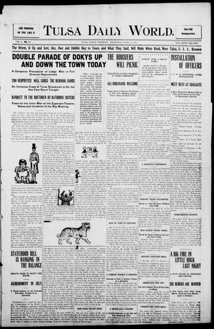 Primary view of object titled 'Tulsa Morning News and Tulsa Daily World. (Tulsa, Indian Terr.), Vol. 1, No. 182, Ed. 1 Wednesday, April 25, 1906'.