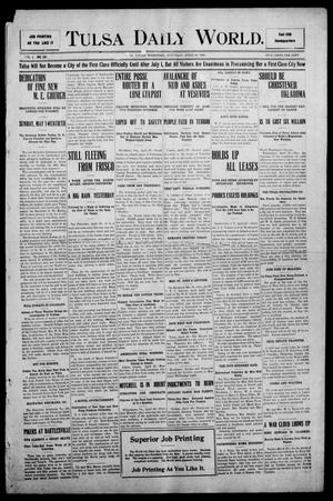 Primary view of object titled 'Tulsa Morning News and Tulsa Daily World. (Tulsa, Indian Terr.), Vol. 1, No. 185, Ed. 1 Saturday, April 28, 1906'.