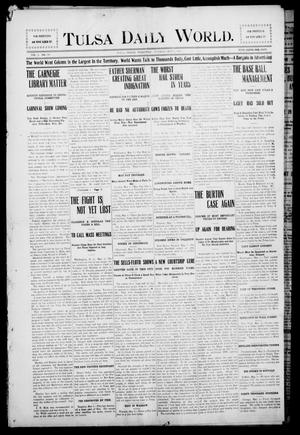 Primary view of object titled 'Tulsa Morning News and Tulsa Daily World. (Tulsa, Indian Terr.), Vol. 1, No. 186, Ed. 1 Tuesday, May 1, 1906'.