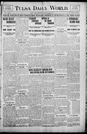 Primary view of object titled 'Tulsa Morning News and Tulsa Daily World. (Tulsa, Indian Terr.), Vol. 1, No. 192, Ed. 1 Wednesday, May 9, 1906'.