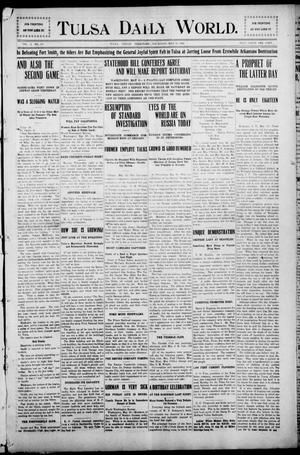 Primary view of object titled 'Tulsa Morning News and Tulsa Daily World. (Tulsa, Indian Terr.), Vol. 1, No. 193, Ed. 1 Thursday, May 10, 1906'.