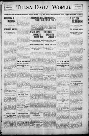 Primary view of object titled 'Tulsa Morning News and Tulsa Daily World. (Tulsa, Indian Terr.), Vol. 1, No. 195, Ed. 1 Friday, May 11, 1906'.