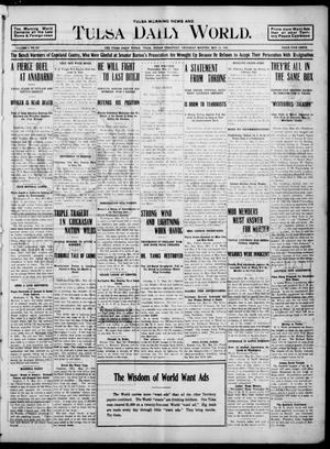 Primary view of object titled 'Tulsa Morning News and Tulsa Daily World. (Tulsa, Indian Terr.), Vol. 1, No. 205, Ed. 1 Thursday, May 24, 1906'.