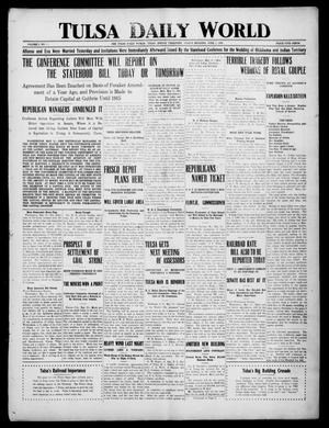 Primary view of object titled 'Tulsa Daily World (Tulsa, Indian Terr.), Vol. 1, No. 211, Ed. 1 Friday, June 1, 1906'.