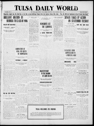 Primary view of object titled 'Tulsa Daily World (Tulsa, Indian Terr.), Vol. 1, No. 217, Ed. 1 Friday, June 8, 1906'.