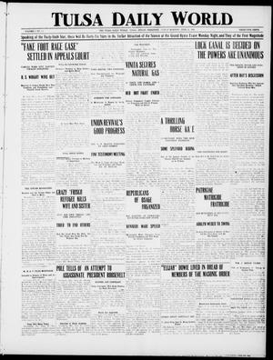Primary view of object titled 'Tulsa Daily World (Tulsa, Indian Terr.), Vol. 1, No. 228, Ed. 1 Friday, June 22, 1906'.