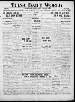 Primary view of object titled 'Tulsa Daily World (Tulsa, Indian Terr.), Vol. 1, No. 245, Ed. 1 Sunday, July 15, 1906'.