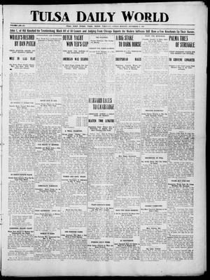 Primary view of object titled 'Tulsa Daily World (Tulsa, Indian Terr.), Vol. 1, No. 289, Ed. 1 Sunday, September 9, 1906'.