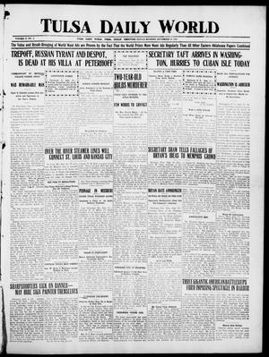Primary view of object titled 'Tulsa Daily World (Tulsa, Indian Terr.), Vol. 2, No. 2, Ed. 1 Sunday, September 16, 1906'.