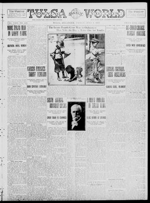 Primary view of object titled 'Tulsa Daily World (Tulsa, Okla.), Vol. 8, No. 250, Ed. 1 Friday, July 4, 1913'.