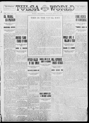 Primary view of object titled 'Tulsa Daily World (Tulsa, Okla.), Vol. 8, No. 259, Ed. 1 Tuesday, July 15, 1913'.