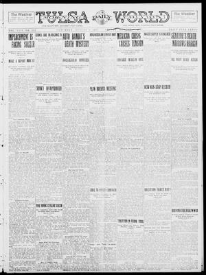 Primary view of object titled 'Tulsa Daily World (Tulsa, Okla.), Vol. 8, No. 281, Ed. 1 Saturday, August 9, 1913'.