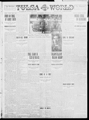 Primary view of object titled 'Tulsa Daily World (Tulsa, Okla.), Vol. 8, No. 289, Ed. 1 Tuesday, August 19, 1913'.