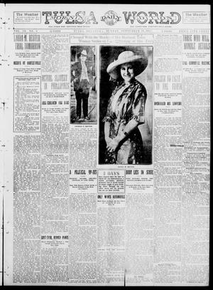 Primary view of object titled 'Tulsa Daily World (Tulsa, Okla.), Vol. 9, No. 5, Ed. 1 Sunday, September 21, 1913'.