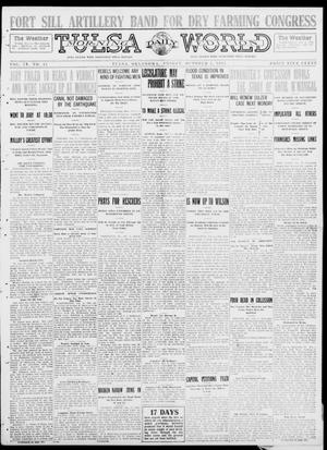 Primary view of object titled 'Tulsa Daily World (Tulsa, Okla.), Vol. 9, No. 15, Ed. 1 Friday, October 3, 1913'.