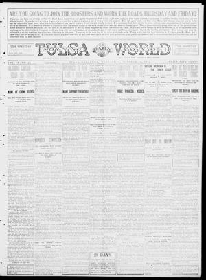 Primary view of object titled 'Tulsa Daily World (Tulsa, Okla.), Vol. 9, No. 25, Ed. 1 Wednesday, October 15, 1913'.
