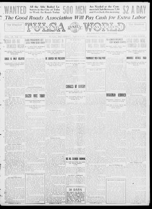 Primary view of object titled 'Tulsa Daily World (Tulsa, Okla.), Vol. 9, No. 26, Ed. 1 Thursday, October 16, 1913'.