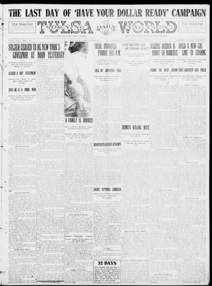Primary view of object titled 'Tulsa Daily World (Tulsa, Okla.), Vol. 9, No. 28, Ed. 1 Saturday, October 18, 1913'.